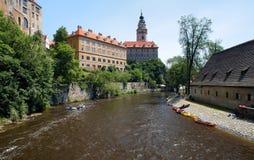 cesky vltava ποταμών krumlov κάστρων Στοκ φωτογραφία με δικαίωμα ελεύθερης χρήσης