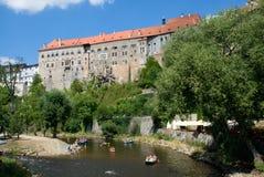 城堡cesky捷克krumlov共和国 库存图片