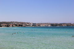 Cesme Aegean Sea and Beach Stock Images