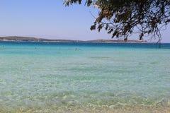 Cesme Aegean Sea. Wonderful cesme blue aegean sea nearby Ilica beach Royalty Free Stock Images