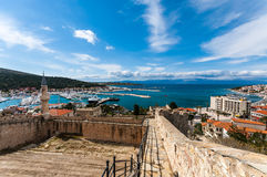 Cesme Castle, Izmir. If you are arriving in Cesme by sea it will be one of the first and most memorable landmarks you will see. Or if you drive or walk to the Stock Photos