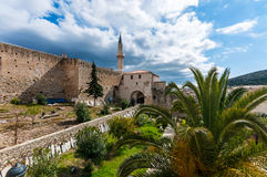 Cesme Castle, Izmir. If you are arriving in Cesme by sea it will be one of the first and most memorable landmarks you will see. Or if you drive or walk to the Stock Photo