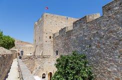 Cesme slott, Cesme, Turkiet Fotografering för Bildbyråer