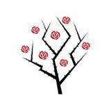 Cespuglio di rose astratto Immagine Stock