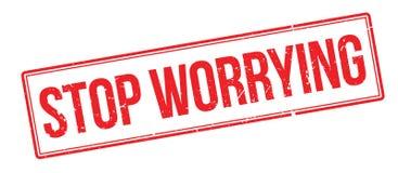 Cessez d'inquiéter le tampon en caoutchouc images stock