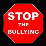 Cessez d'intimider le signe Photo libre de droits