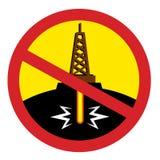 Cessez de fracking illustration stock