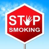 Cessez de fumer le panneau et le danger d'avertissement de moyens Photo libre de droits