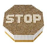 Cessez de fumer le signe Image stock