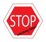 Cessez de gaspiller le symbole de temps illustration de vecteur