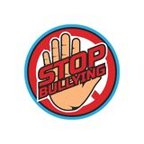 Cessez intimider, aucun logo de intimidation, illustration de vecteur photo libre de droits