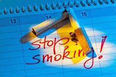Cessez le fumage. bonne résolution dans le calendrier Images stock