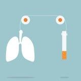 Cessez le tabagisme Images libres de droits