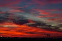 Cessna της Φλώριδας αερολιμένων ανατολής ηλιοβασιλέματος 172 cessna172 στοκ φωτογραφίες