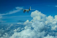 Cessna 208 τροχόσπιτο και ουρανός Στοκ φωτογραφία με δικαίωμα ελεύθερης χρήσης
