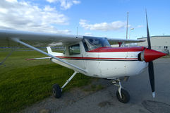 Cessna. A 3/4 view of a cessna airplane.  All logos and registrations removed Stock Photos