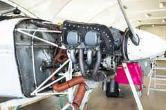 Cessna 152 Engine Royalty Free Stock Photo