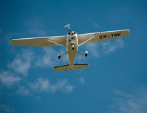 Cessna 152 in flight Stock Photos
