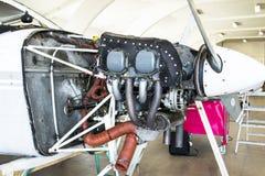 Cessna 152 Motor Royalty-vrije Stock Foto