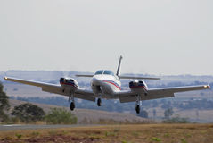 Cessna 303 Crusader Landing Stock Photo