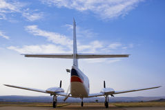 Cessna 303 Crusader - Rear View 02 Royalty Free Stock Photo