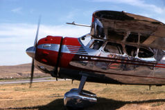 Cessna aircraft taxing for takeoff. Cessna C-195 aircraft taxing for takeoff Royalty Free Stock Image