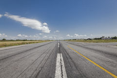 Cessna aircraft training runway. Cessna: a small airplane stands on the airfield at , with clouds in the background Stock Photography