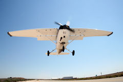A cessna airplane. Before landing (Israeli registration - 4x Royalty Free Stock Image