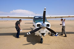 Cessna airplane in Namibia Royalty Free Stock Photo