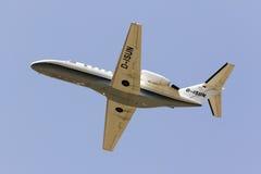Cessna biznesu strumienia pięcie od pasa startowego Zdjęcie Royalty Free