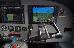 Cessna Caravan aircraft cockpit Royalty Free Stock Photo