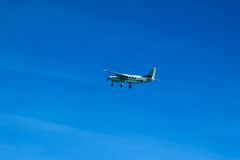 Cessna 208 Caravan and sky Stock Photography
