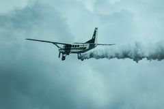 Cessna 208 Caravan and sky Royalty Free Stock Photography