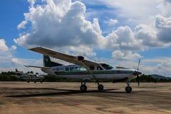 Cessna 208 Caravan and sky Stock Photography
