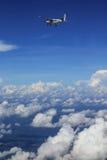 Cessna 208 Caravan and sky Stock Photos