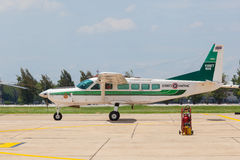 Cessna 208 Caravan was show at  Royal Thai air force (RTAF) exhibition Royalty Free Stock Photography