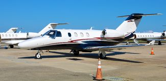 Cessna Citation Jet at New Orleans Private Airport. Ready to take off Stock Photos