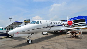 Cessna, Citationo Sovereign business jet on display at Singapore Airshow Stock Image
