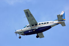 Cessna Grand Caravan 208B of Kanair. Hs-kab landing to chiangmai airport, flight from Mae hong son Royalty Free Stock Image