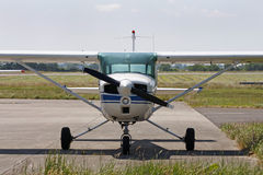 Cessna light aircraft. Parked at an airfield stock images