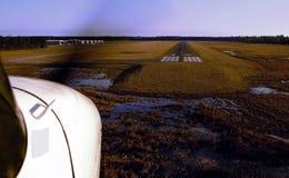 Cessna-marcha a aterragem. Foto de Stock Royalty Free