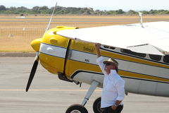 Cessna 195 passagiersvliegtuigen Stock Fotografie