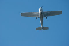 Cessna plane flying overhead Royalty Free Stock Image