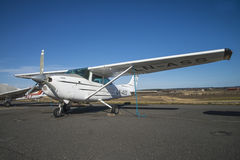 Cessna 182 Skylane. The Cessna 182 Skylane is an American four-seat, single-engined light airplane. The engine, six-cylinder boxer engine with 230 or 235 hp, 170 Royalty Free Stock Image