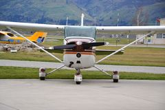 Cessna 172 small light aircraft used to train pilots stock images