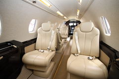 Cessna Sovereign cabin presentation Stock Image