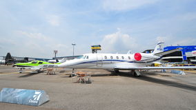 Cessna T240 Corvalis and Citation 560XL on disiplay at Singapore Airshow Royalty Free Stock Photography