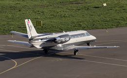 Cessna 560XLS Citation Excel business aircraft running on the runway Royalty Free Stock Photos