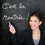 Cest-La Rentree Scolaire - Franzosen zurück zu Schule Stockbild