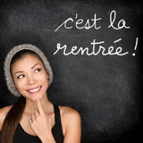 Cest la Rentree Scolaire - French back to school Stock Image